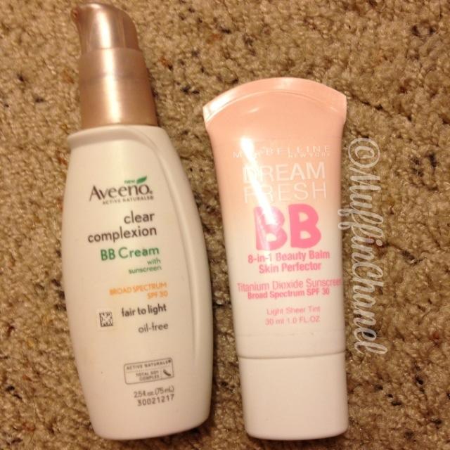 Aveeno Clear Complexion vs. Maybelline Dream Fresh BB Cream - MuffinChanel
