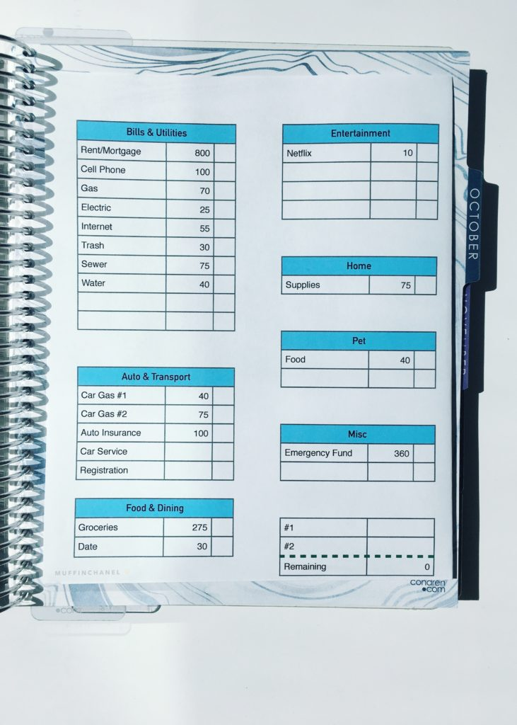 how i set up my erin condren life planner   monthly budget