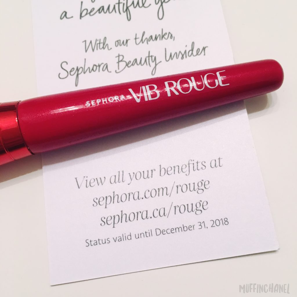 2017 Sephora Vib Rouge Renewal Gift Birthday Option Muffinchanel
