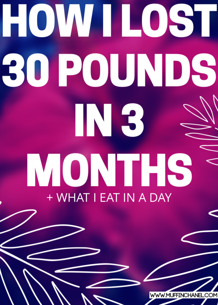 how to lose 30 pounds in 3 months